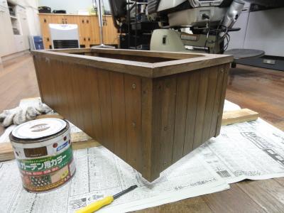 なんちゃって・木製プランター!