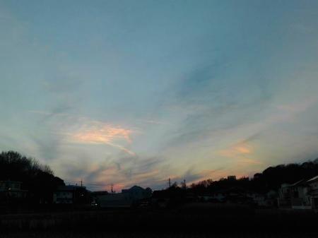 夕焼けの中でお散歩!