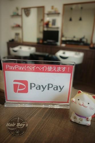 PayPay(ペイペイ)使えます!