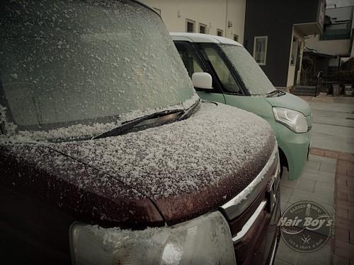 初積雪・・・?